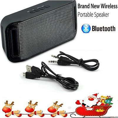 Portable Wireless Music Bluetooth Speaker w/ LED Party Light Handsfree for Phone