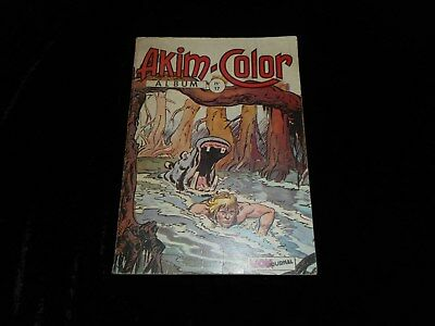 Akim Color album 17 avec Akim Color 49, 50, 51 Editions Mon Journal 1972
