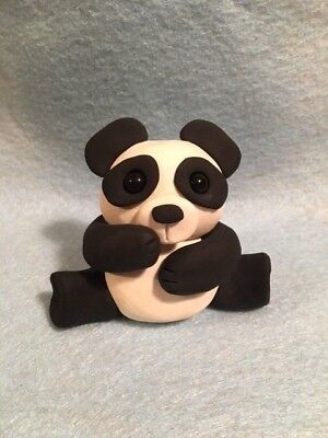 Large Panda Bear Figurine -  New OOAK - Handmade