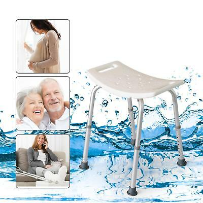 Quality Adjustable Seat Height Legs Non-Slip Shower And Bath Chair Stool New