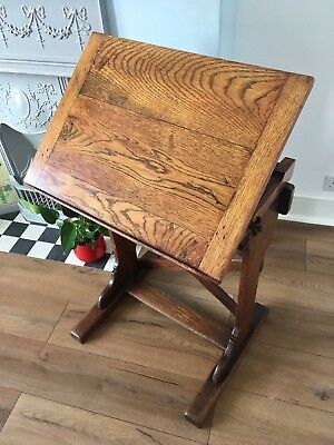 Gothic Oak LECTERN - Menu Stand, Reading Stand, Plant Stand, Occasional Table
