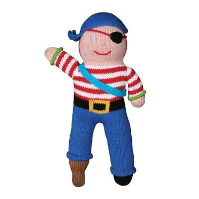 Zubels 100% Hand-Knit Arr-nee the Pirate Plush Doll Toy, 12-Inch, All Natural