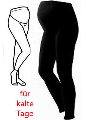 NEU warme UMSTANDSLEGGINGS Winter Leggigns 36 38 40 42 44 SCHWARZ