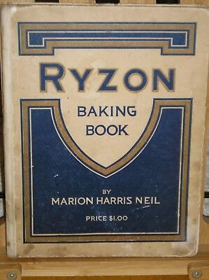 Vintage 1916 Ryzon Baking Cook Book Cookbook Marion Harris Neil Recipes