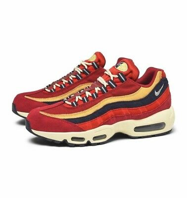 premium selection 60e14 8fa31 ... top quality nike mens air max 95 premium red crush wheat gold red  538416 603 e86a9