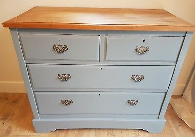Edwardian Maple, Painted Chest of Drawers - medium size with antique handles