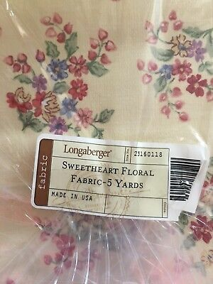 Longaberger First Quality Fabric in Sweetheart Floral (5 Yards) NEW