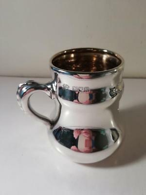 An Antique Hukin & Heath 'Three Blind Mice' Silver Mug / Tankard : London 1910