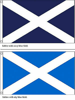 Scotland St Andrews Cross Saltire Scottish National Flag With 2 Metal Eyelets