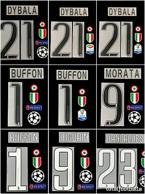 Juventus 15/16, 16/17, 17/18 namesets serie A Tim Cup patch  respect SerieA UCL