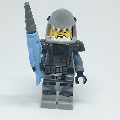 LEGO The Ninjago Movie Great White Authentic Minifig w// Accessories From 70609