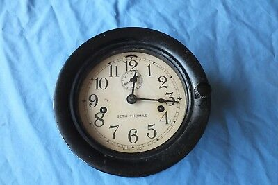 Seth Thomas Ww2 Chronometer Lever Ships Clock Working