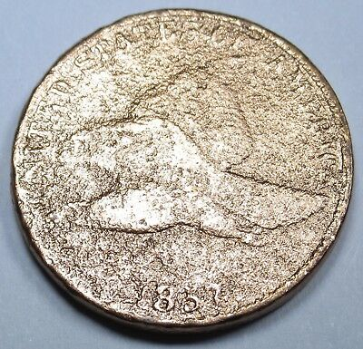 1857 US Flying Eagle Cent Penny Antique US Currency Indian Head Old USA Coin