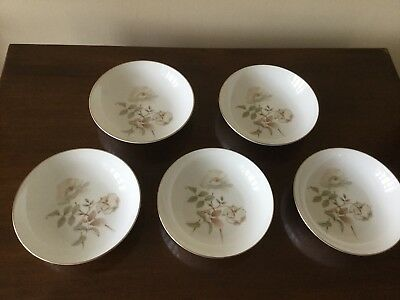 Royal Doulton English bone china 5 cereal/soup bowls 18cm 7""