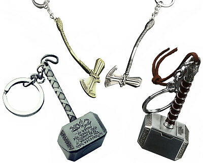 Marvel Avengers Keychain - Thor Hammer Stormbreaker Ring Chain Holder 2018 Men 3