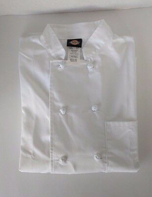 Dickies Chef Unisex Classic Coat White Size Small Long Sleeve Cloth Buttons  NWT