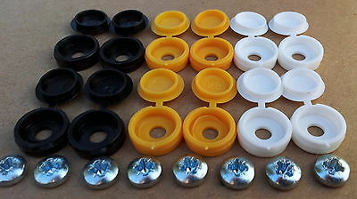 Number Plate fixing screw / screws caps / covers 20 pieces *FREE Postage*