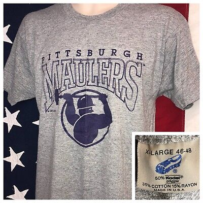 Vintage 80s 1983 USFL PITTSBURGH MAULERS T-Shirt Football Large L Jersey 50/50