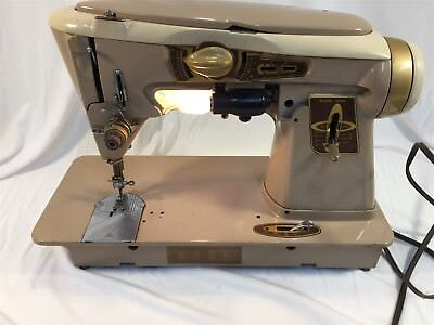 Vintage Singer 500A Rocketeer Sewing Machine With Manual and Accessories Box