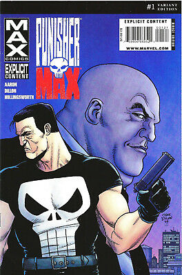 Punisher Max Issue #1 VF Variant Cover Edition Steve Dillon Marvel Comics 2010