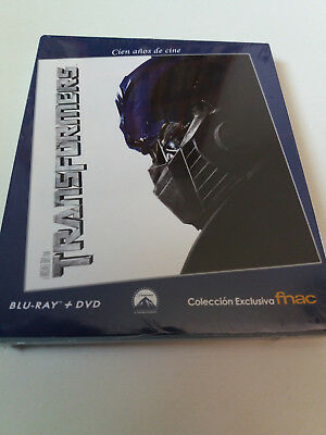 "Blu-Ray ""Transformers"" Combo Bluray + Dvd Precintado Sealed Fnac Con Funda Carto"