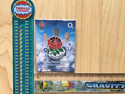 Rugby Pin Badge Wear The Rose O2 Sponsor Badge, Brand New Unopened Unused