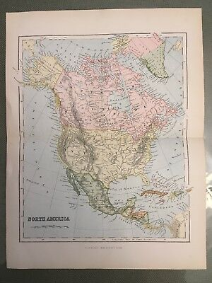 6 Piece 19th C. Map Prints of N & S America, Europe, Asia, Africa, and Australia