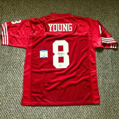 e8196eba6 STEVE YOUNG SIGNED SAN FRANCISCO 49ERS JERSEY BAS Beckett Authenticated