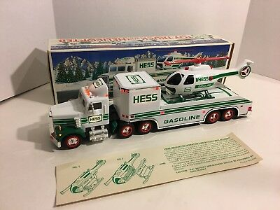 1995 Hess Gasoline Truck and Helicopter w/ Original Packaging READ DESCRIPTION