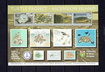 Ascension Island - 2000 Turtle Project Souvenir Sheet - Scott 754 - Mnh