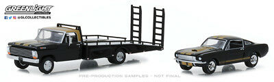 Greenlight 1:64 Heavy Duty Trucks 1968 Ford F-350 Ramp Truck 1966 Shelby GT350H