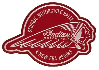 INDIAN MOTORCYCLE New Era Patch IronOn Embroidered Large Back Patch