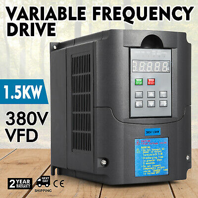 SALE 1.5KW 380V 2HP 5A VARIABLE FREQUENCY DRIVE INVERTER VFD Frequenzumrichter