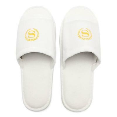 Spa Hotel Guest Slippers Open Toe Seaham Hall Towelling Disposable Terry New