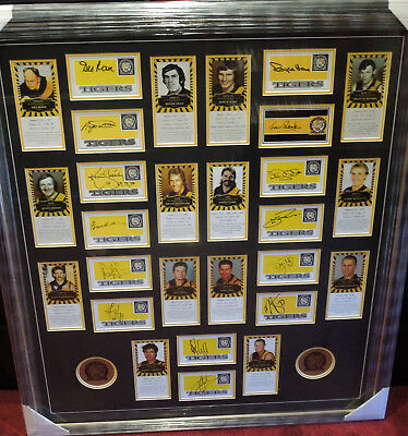 Huge Framed Richmond Captains hand signed by 14 Hart Rowe Dean Sheedy  1 only
