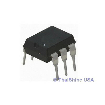 4 x MOC3023 MOC3023M 3023 Triac SCR Output Optocoupler IC USA Seller Free Ship