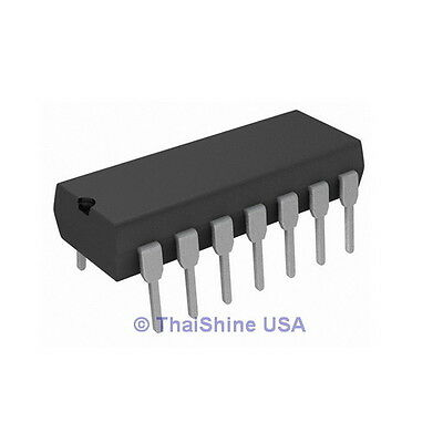 10 x LM339N LM339 IC LOW POWER QUAD VOLTAGE COMPARATORS USA SELLER