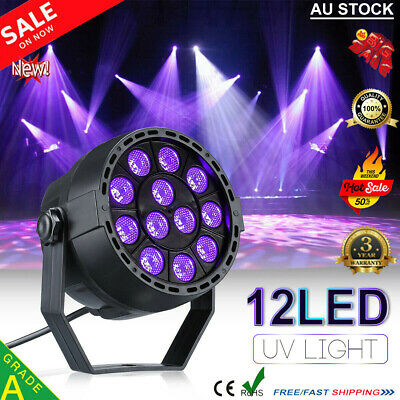12 LED UV DMX Stage Lighting Black Light Disco Bar DJ Light Effect Spotlight AU