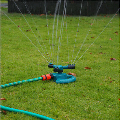 Lawn Water Sprinkler 360 Degree Automatic Garden 3-Arm Rotating Sprinkler System