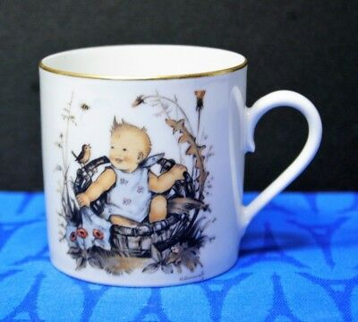 Hummel 1973 Child's Cup Sister Berta Schmid Bros  Baby Boy, Birds Sweet, MINT!