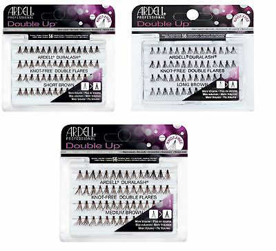 Ardell Duralash FLARE Knot Free DOUBLE Thick Individual Lash Large,Medium,Short