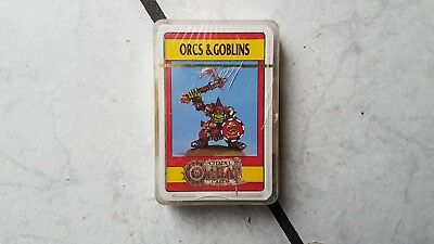 "Warhammer/Citadel Fantasy Playing Cards/Game -noch ovp.""Orcs &Goblins   ""°°"