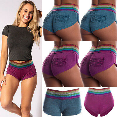 UK New Women Sports Shorts Casual Ladies Beach Summer Running Gym Yoga Hot Pants