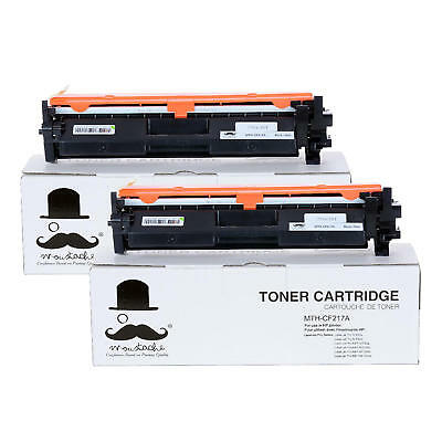2PK 17A CF217A Black Toner Cartridge With Chip For HP M102a M102w M130a M130fn