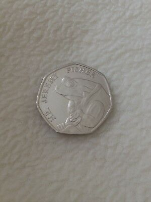 Set Of 2 Beatrix Potter 2017 colloctor 50p Coins Benjamin bunny & Jeremy fisher