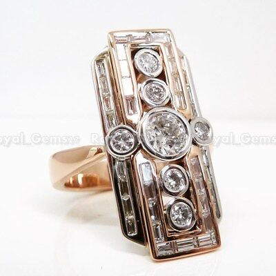 Rare Art Deco Vintage 14K Gold Over Antique Engagement Ring Old Circa 1925's