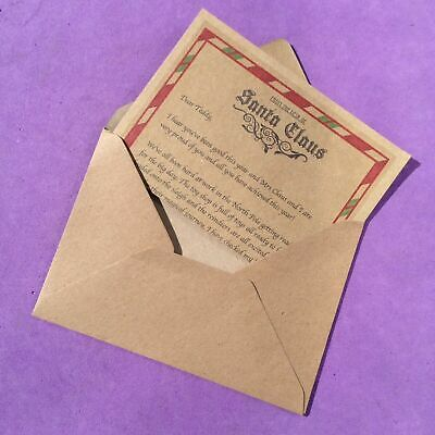 1 x Personalised Letter From Santa & Envelope Xmas Eve LETTER ONLY