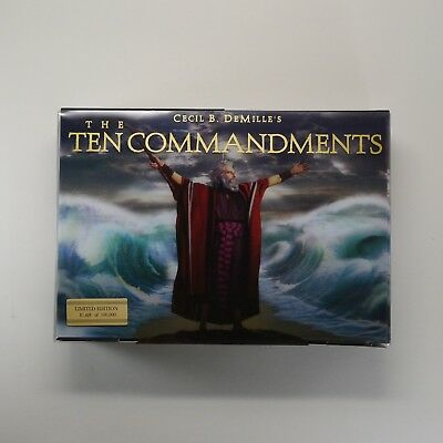 The Ten Commandments Blu-ray [Limited Edition, Blu-ray & DVD Combo Set, 6Discs]