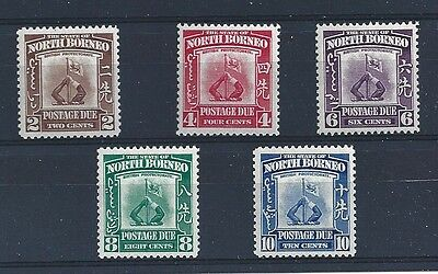 1939 NORTH BORNEO BMA , D 85/89 5 valores MLH
