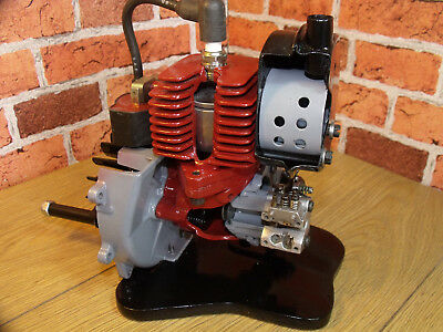 """ENGINE, Stationary Engine, Sectioned, """"Reed Valve"""" Cut away, Desk toy, 2 Stroke."""